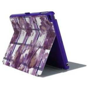 Speck StyleFolio Tablet Case All iPad Air & Air 2 Pro Floral Plaid Purple New
