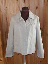 MARKS & SPENCER light beige cream stone cotton single breasted coat jacket 12 40