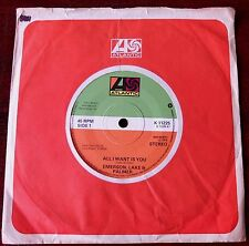 "EMERSON LAKE & PALMER ALL I WANT IS YOU 7"" ATLANTIC NM- (1978) UK"