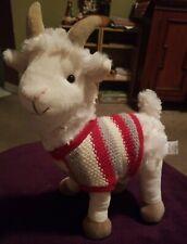 Pier 1 Imports LIama the Goat Llama Plush Stuffed Animal Red Ivory Knit Sweater