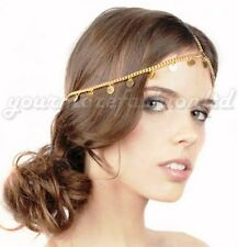 Gold Coin Pendant Head Chain Pieces Hairband Hair Jewelry (P47)