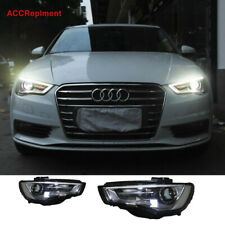 2Pcs For Audi A3 Headlights assembly 2015 2016 Projector 【OEM Hid Model Replace】