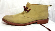 Joseph Abboud Men Chukka  Ankle Boots 13M Beige Suede Leather back solid