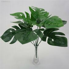 Artificial Fake Green Monstera Palm Tree Leaf Simulation Plant Home Garden Decor