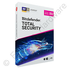 Bitdefender Total Security & VPN Multi Device 2019 5 PCs Users 1 Year Retail DVD