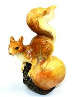 "Squirrel Standing Nut Statue Resin Vintage 6 1/2"" Garden Decor Farm Animal"