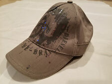 NWOT Diesel Only The Brave Unisex Baseball Cap Hat Cap Beige Sequins One Size