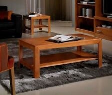 Small Table center Living room table Low Rectangular Solid Wood Cherry tree