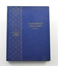 Used Whitman 1935-To Date Canadian Dollars Empty Coin Album Book - 14 Oz. *107