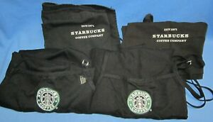 a Lot of 4 used Starbuck Aprons ~ Black