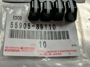 NEW Genuine OEM Toyota AC Heater Knob 4Runner Pickup Land Cruiser Tacoma, 4 pcs.