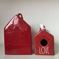 New Rae Dunn Red Mini Baby Love Square Birdhouse - Christmas 2020