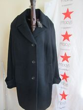 Style & Co. Women's Wool Winter Black Trench Coat M, Long Outwear - New
