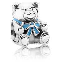 Original Pandora Charm Element 791124EN41 Bär Teddy Silber 925