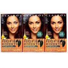 (Pack of 3) CLAIROL Natural Instincts Hair Color 4R Dark Auburn Brown