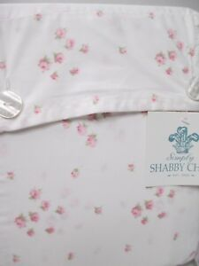 Rachel Ashwell Simply Shabby Chic White Pink Rosebud Sprinkles Sheet Set-Twin XL
