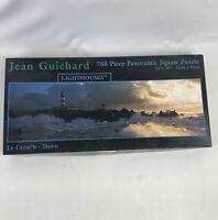 "Lighthouses 768 piece Panoramic jigsaw puzzle 12"" x 38"" Jean Guichard Le Creach"