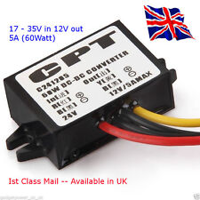 Power Supply Converter DC/DC 24v down to 12V at 5A - (60 Watts) Available in UK