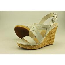 Jessica Simpson Julita Women US 7.5 White Wedge Sandal Pre Owned  1586