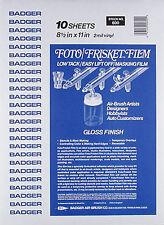 Badger 600 Foto/Frisket Transfer Paper 8.5x11 (10)