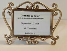 Pewter Mini Photo Frame Place Card Holders Wedding Favors Freestanding Frame