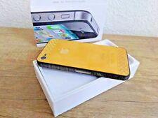 Lujo Apple iPhone 4s 64gb oro negro piedras fosforescentes