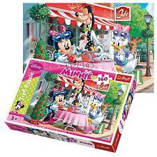 Trefl 160 Piece Kids Girls Minnie Mouse & Daisy In The Cafe Jigsaw Puzzle NEW