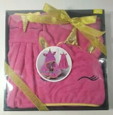 BABY / Hooded Towel & Wash Cloth Unicorn (2 PC) (89% Polyester and 11% Nylon)