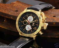 Königswerk Uhr, schwarz Leder Armband, Multifunktion, Tag-Datum, Konigswerk, neu