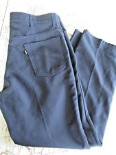 VTG Levis 517 Polyester Boot Cut Jeans Pants Navy 38x31