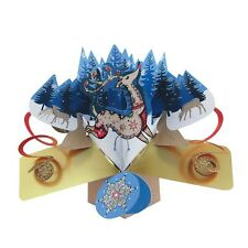 Reindeer Petite Christmas Pop-Up Greeting Card Second Nature 3D Pop Up Cards