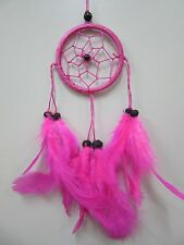 Small Nylon Pink Coconut Bead 6cm Web Dream Catcher 32 cm Total Length