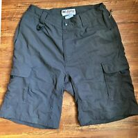 Columbia Mens Hybrid Omni Dry GRT Cargo Shorts Outdoors Casual Hiking S Grey