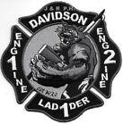 "Davidson  Engine - 1 / Engine - 2 / Lad - 1, NC (4.5"" x 4.5"") fire patch"