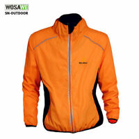 RUNNING BIKE MEN HI VIZ CLOTHING WEAR WIND RAIN COAT JACKET JERSEY OUTDOOR SPORT