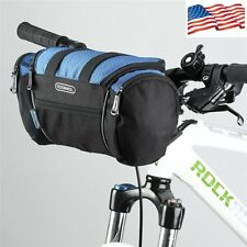 Bicycle Cycling Frame Pannier Bike Front Tube Basket Handlebar Pouch Blue Bag US