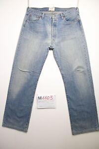 Levi's 501 1947 'S Rivets Jeans D'Occassion (Cod.M1103) Tg.50 W36 L36 Raccourci