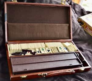 VINTAGE RUMMY-O TILE GAME w/ Carry Case ORIGINAL BOX IN POOR CONDITION Cardinal
