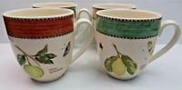 Original Wedgwood Queens ware vintage Sarah's Garden Set 4 Mugs Made In England