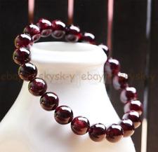 8MM Natural Red Garnet Crystal Round Gemstone Beads Stretch Bracelet 7.5'' AAA