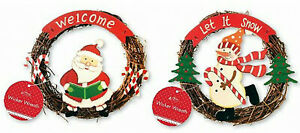 2 Christmas Wicker Wreaths
