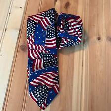 J.B. Herringbone patriotic Flag Tie 100% Cotton