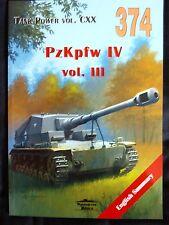 MILITARIA 374. PZ.KPFW.IV  VOL. III  BY JANUSZ LEDWOCH