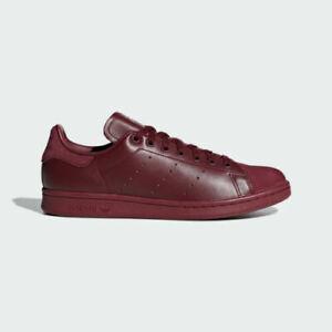 Men Sport  Leather  Shoes * ADIDAS STAN SMITH * B37920 * Burgundy
