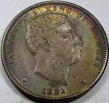 1883 Hawaii One Dollar Choice AU++... So Nice and Original, Great Color, SCARCE!