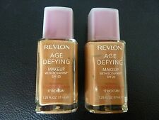 Revlon Age Defying Makeup/Foundation - RICH TAN #17 - NORMAL / COMBINATION - TWO
