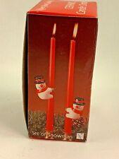 Ceramic Candle Climbers Snowmen New in Box