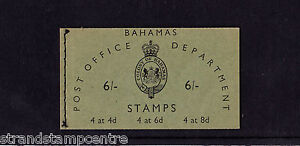 Bahamas - 1961 6/- Booklet - Mint Stamps in Booklet Inserted Upside Down - SGSB3