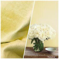Designer Heavy Weight Velvet Upholstery Fabric - Soft- Light Yellow BTY