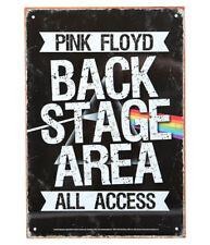 PINK FLOYD Tin Sign Targa Metallica Back Stage OFFICIAL MERCHANDISE